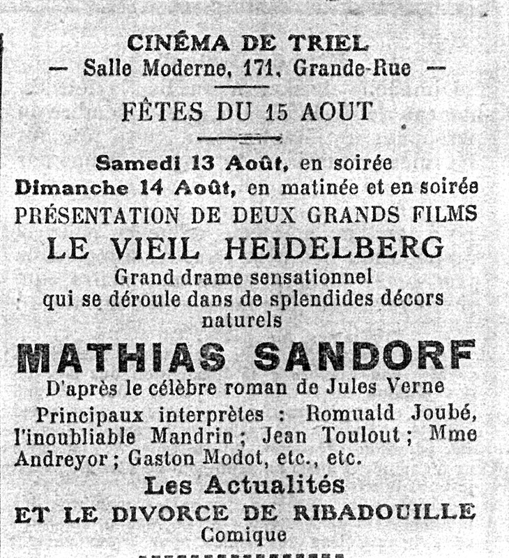 ID322-06 Taveau-Guillon - journal de poissy 11 aout 1927